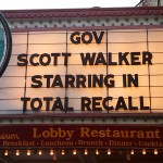 The Orpheum on State Street sends a message to Governor Walker, 3/12/11 (photo courtesy of Morgan Harlow)