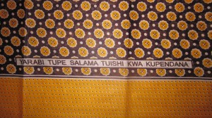 Tupe Salama Tuishi Kwa Kupendana/Give Us Peace So We Can Love Each Other